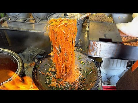 Thumbnail: Street Food 2017 in Bangkok Thailand - The Fire Noodles fast food Serious cooking skill