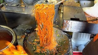 Street Food - The Fire Noodles fast food Serious cooking skill