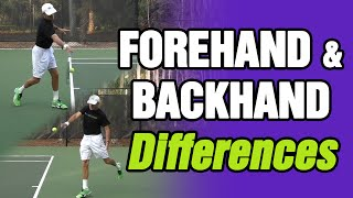 Tennis Forehand & Backhand Differences and Similarities