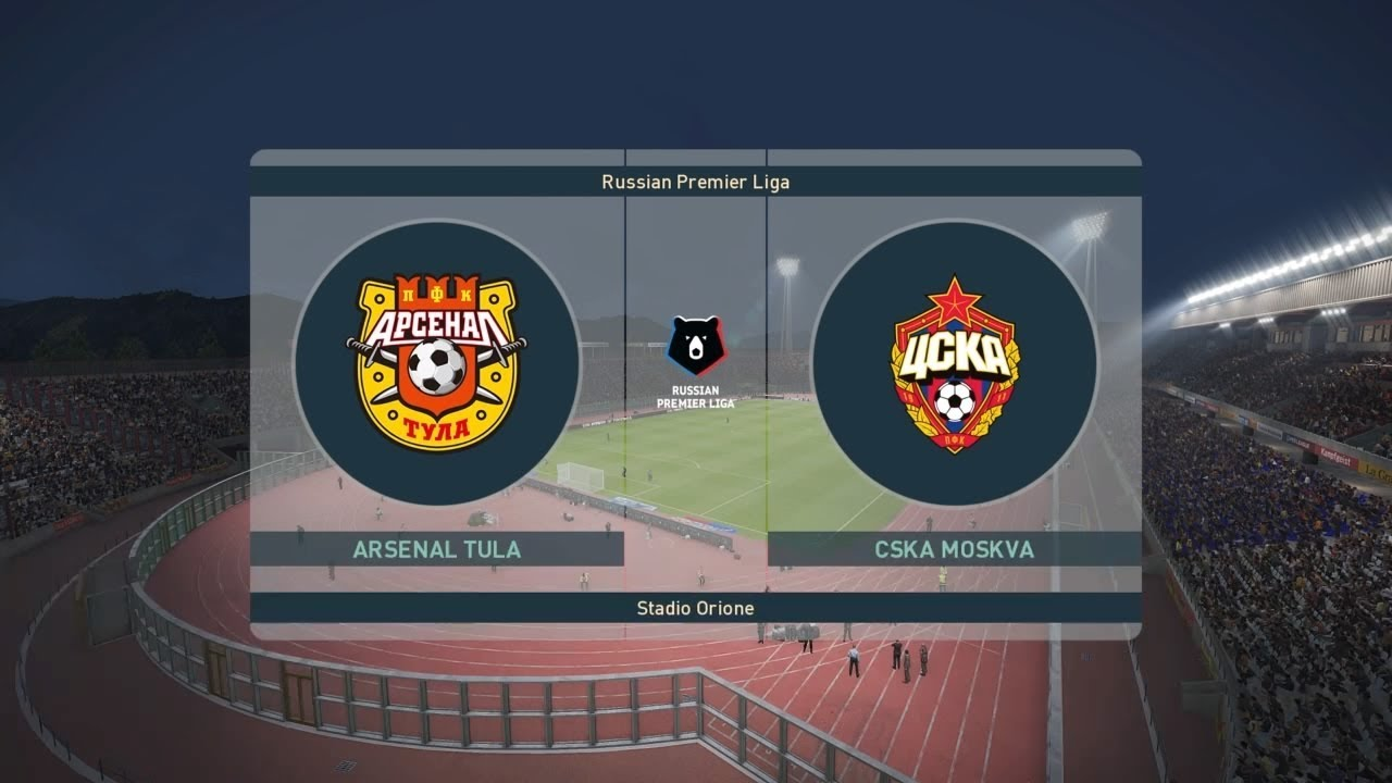 PES 2019 | Arsenal Tula vs CSKA Moscow - Russia Premier League | 01  September 2019 | Full Gameplay