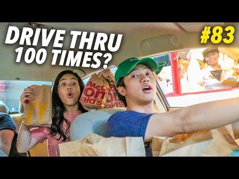 GOING TO THE SAME DRIVE THRU 100 TIMES?! | Ranz and Niana
