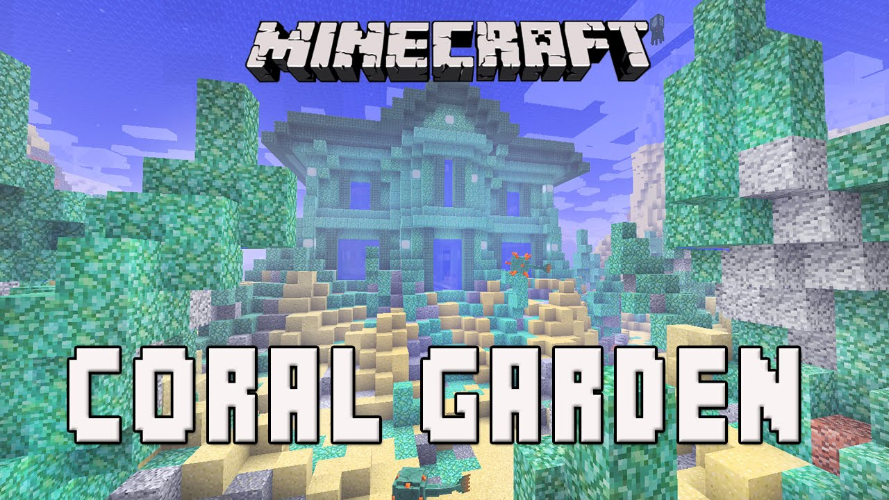 Garden Design Minecraft minecraft: design ideas for an underwater coral reef garden (coral