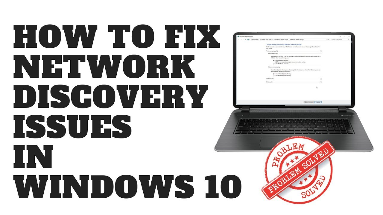 network discovery issues windows 10
