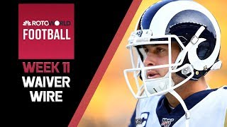 NFL Week 11 Fantasy Football news and Waiver Wire | Rotoworld Football Podcast