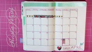 bullet journal planner monthly april