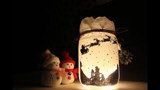 Weihnachtsdeko : DIY Kerzenglas selbstgemacht /Christmas: DIY homemade candle glass