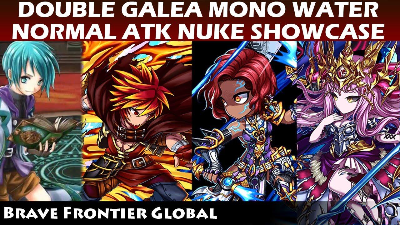 Double Galea Mono Water Normal Atk Nuke Showcase - Genius Challenge Trial  (Brave Frontier Global)
