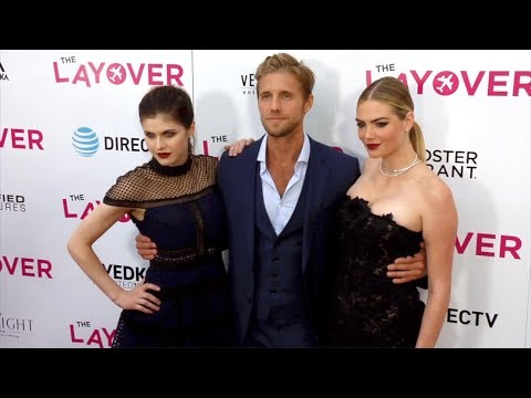 "Alexandra Daddario, Kate Upton, Matt Barr ""The Layover"" Premiere Red Carpet"