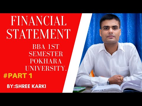 financial statements bba 1st semester p.u||financial statement bbs 1st year