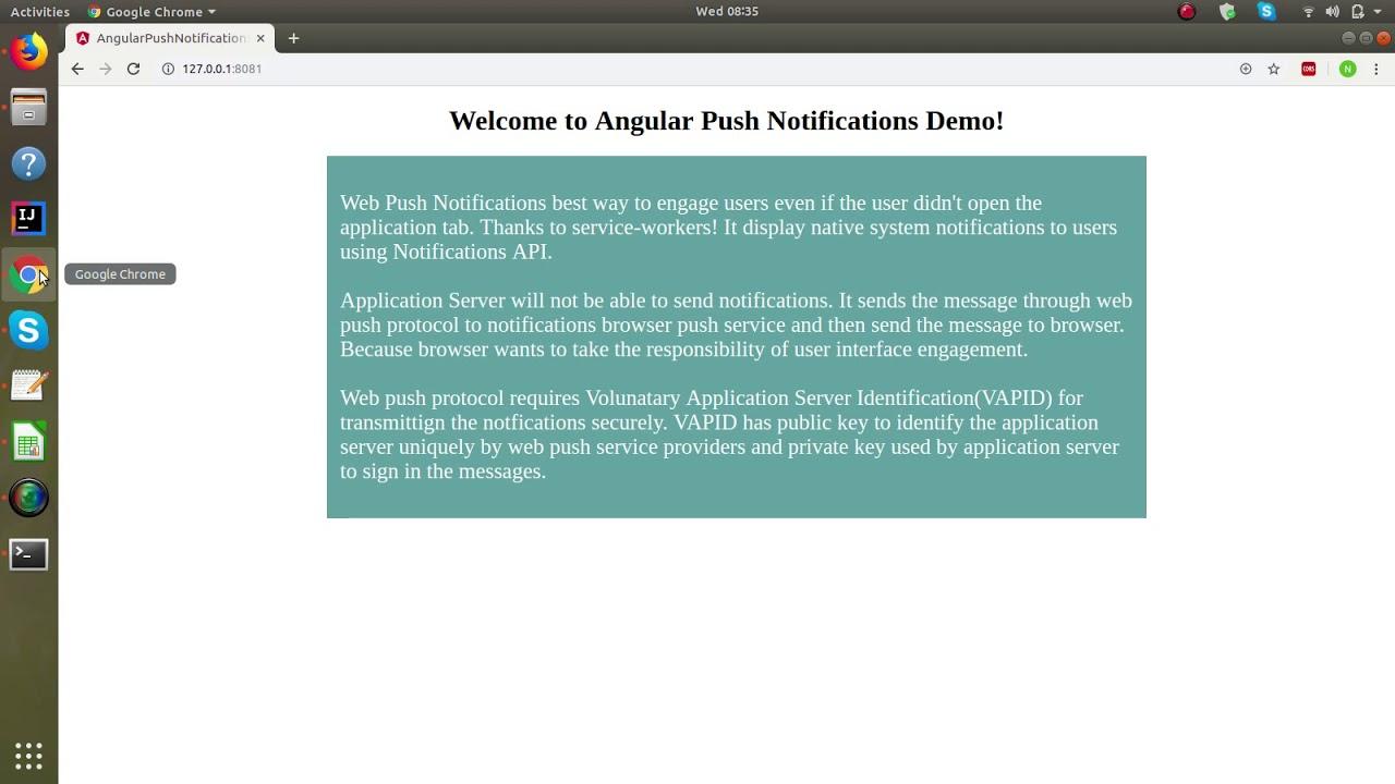 Push Notifications using Angular