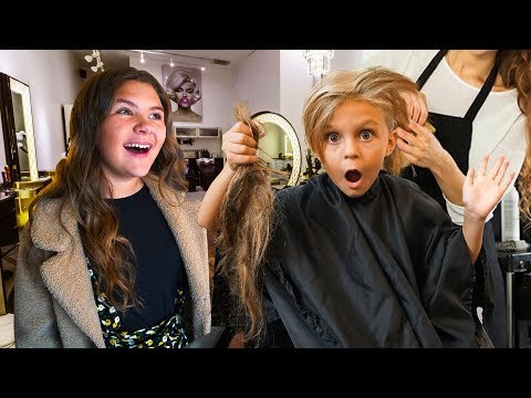 Caspian Finally Cut All His Hair Off... (Surprising his sister) | Slyfox Family