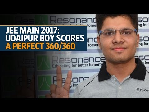JEE Main 2017 results: Udaipur boy Kalpit Veerval tops exam with 100% marks