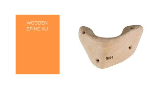 Video: WOODEN SPINE XL1 -  A X-large screw-on wooden pinch, manufactured with the best beech wood.