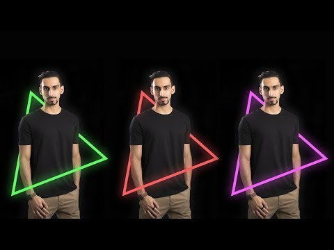 Triangle Neon Glowing Effect Photo Manipulation And Edit | Photoshop CC