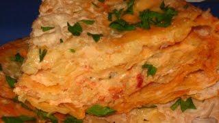 Пирог из лаваша  Пошаговый рецепт с фото