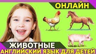 Учим английский язык. Для детей. Деревенские животные фермы | Англичанки