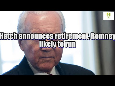 Hatch announces retirement, Romney likely to run