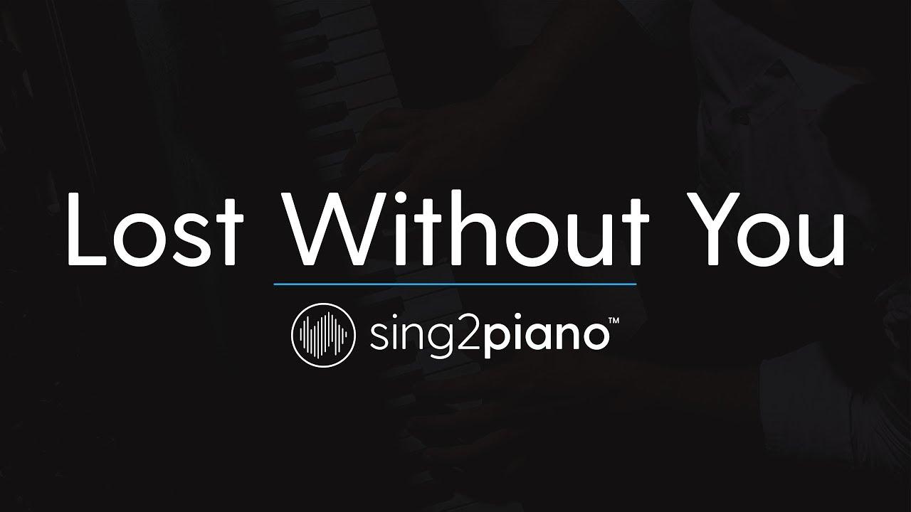 Lost Without You (Piano Karaoke Instrumental) Freya Ridings image