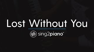 Lost Without You (Piano Karaoke Instrumental) Freya Ridings Video