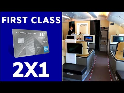SAS EuroBonus AMEX Fly 2-4-1 Voucher | How To Fly Lufthansa First For HALF The Price!