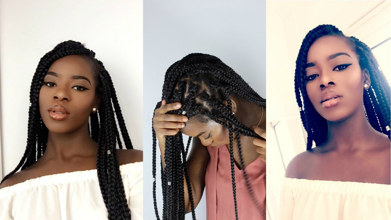 Crochet Box Braids Individual : INDIVIDUAL CROCHET BOX BRAIDS IN 2 HRS NO CORNROWS - YouTube