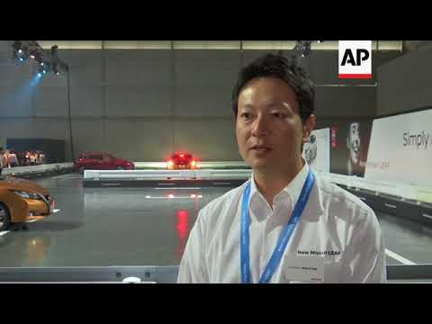 Nissan shows off new zero emission Leaf electric car