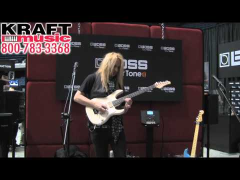 Kraft Music - BOSS GT-100 Demo With Rob Marcello At NAMM 2012