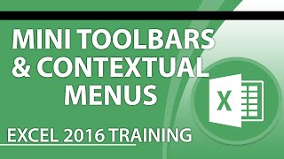 How to Use Mini Toolbars and Contextual Menus in Excel 2016