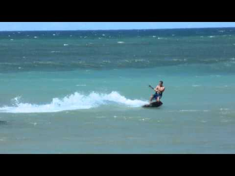 Kiteboarding in Kahului, Hawaii