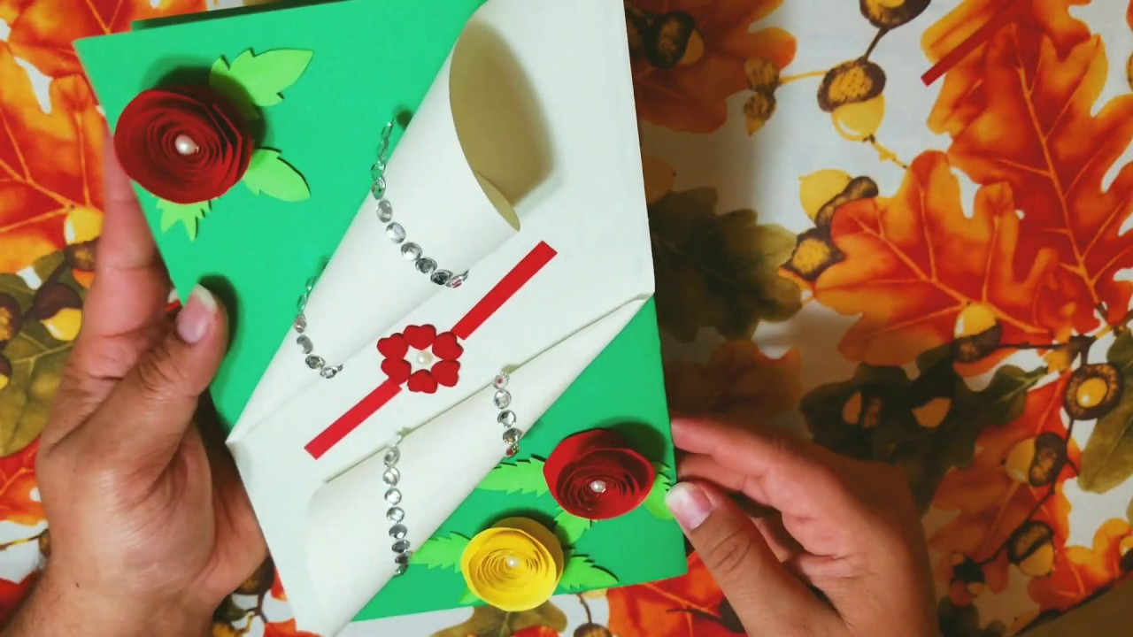 diy handmade card with flowers simple easy and very