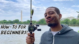 HOW TO Cast a Baitcasting Reel for BEGINNERS!!! (ft. Reggie -- 1R1R LIVE!)