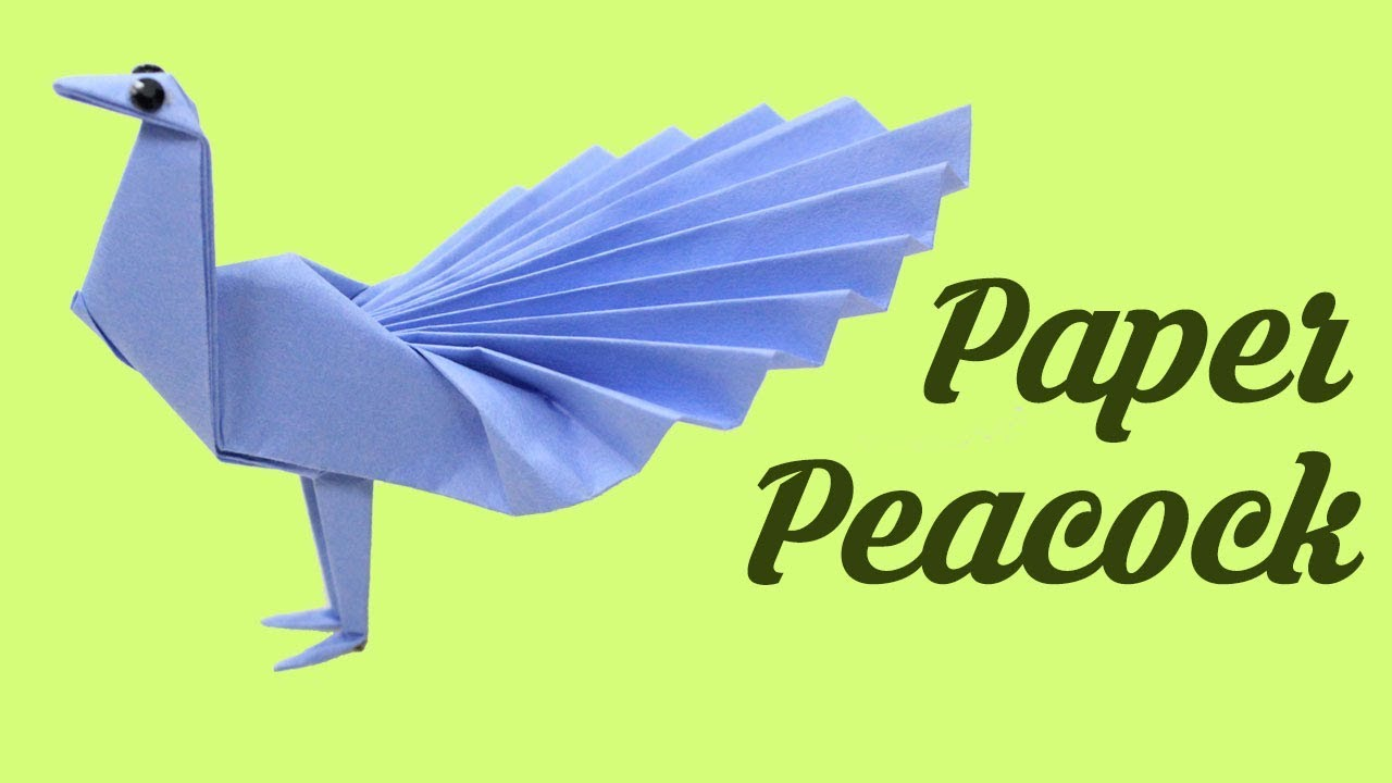 How To Make Paper Peacock Easy Basic Simple Origami For
