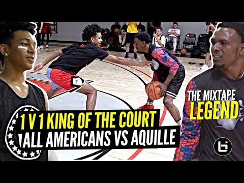 1 V 1 King Of The Court All Americans vs Mixtape LEGEND!! Aquille Carr & Tre Mann SNAP!