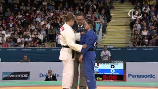 Judo - FRA versus AZE - Women -57 kg Quarterfinals - London 2012 Paralympic Games