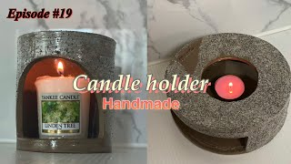 도자기 캔들홀더 제작과정 | ceramics candl…