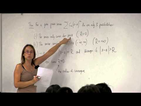 Math 2B. Calculus. Lecture 25. Power Series