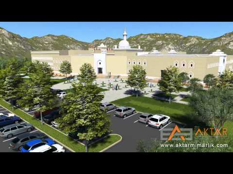 AĞRI İBRAHİM ÇEÇEN UNIVERSITY CONVENTION CENTER 3D architectural walkthrough animation Lumion