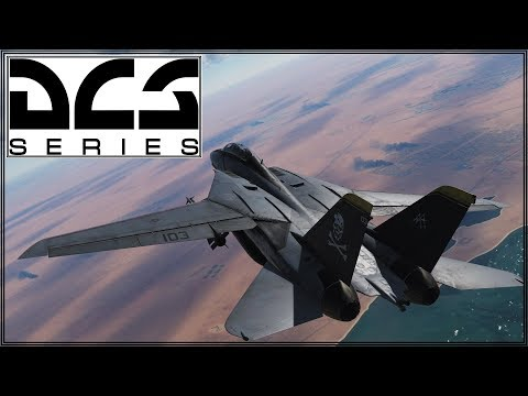 DCS 2.5 - Persian Gulf - F-14B - Early Access Fun - Defend The Fleet!