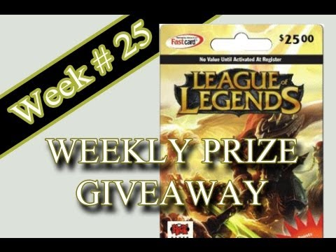 Xfox Weekly Prize Giveaway 25 Dollar Rp Card