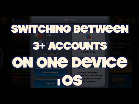 Switching Between Accounts On 1 IOS DEVICE - Castle Crush