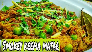 Smokey keema matar recipe /Easy Quick and very Delicious*By Zaika e lucknow *