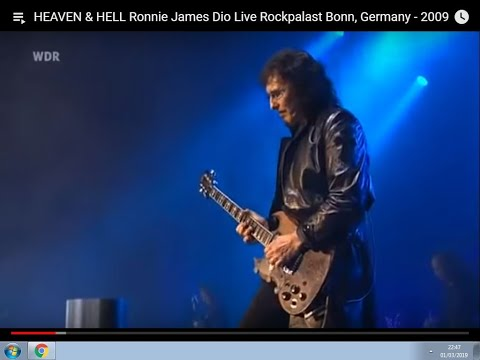 HEAVEN & HELL Ronnie James Dio Live Rockpalast Bonn, Germany - 2009