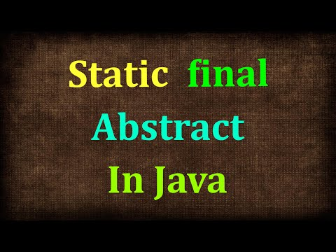 Java Tutorial # 11   static, final Modifiers in Java   Non Access Modifiers in  Java9s