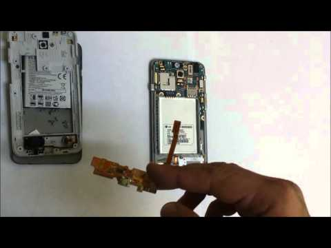 How to Replace the Charger Port on a LG MS323 Optimus L70 - Take apart