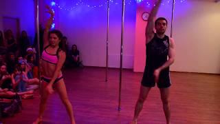 POLE DANCE новый год 2016 дуэт Маша и Сережа