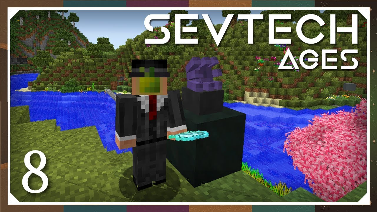 Sevtech: Ages | Abyssalcraft Shoggoth & Great Old One Statue! | E08  (SevTech Ages Modpack)