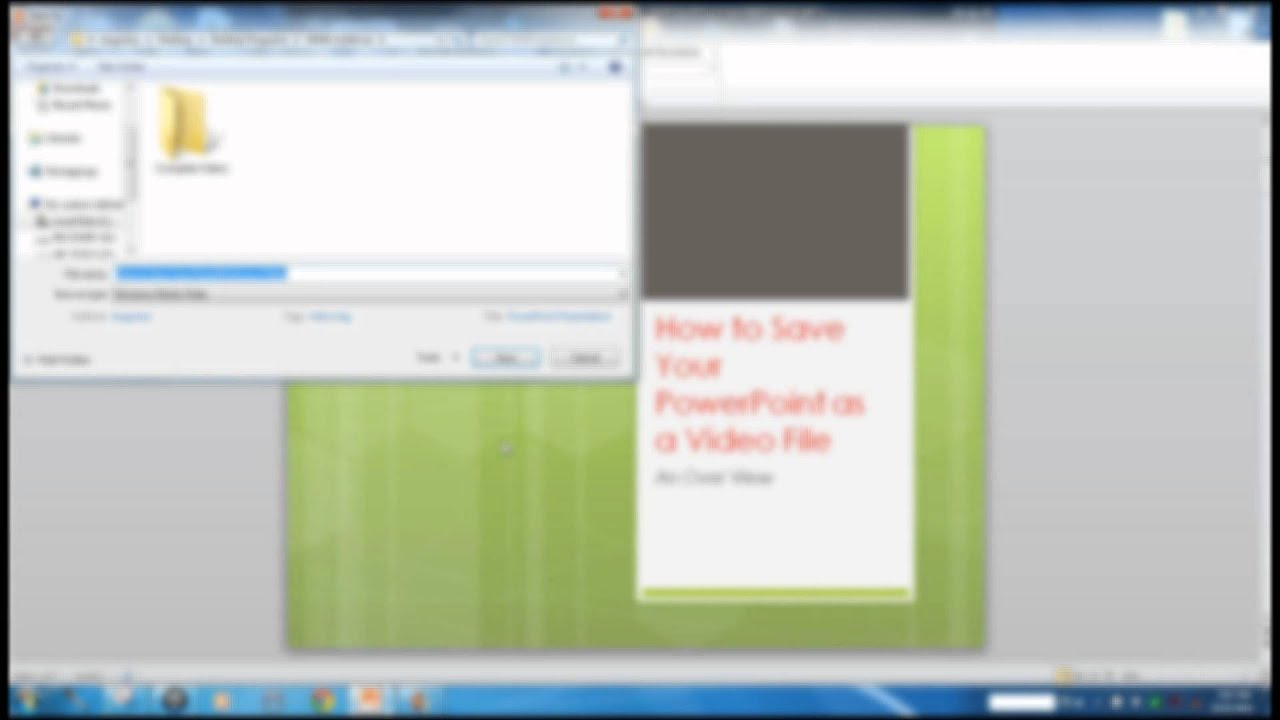 how to turn your powerpoint presentation into a video