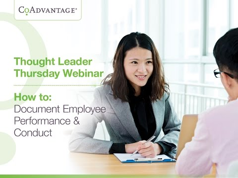 How to Document Employee Performance and Conduct