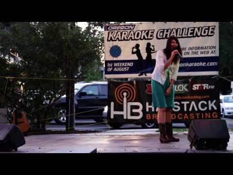 Melanie Oregon Karaoke Challenge 2013 The Dalles OR.