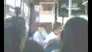 Stupid Slap Fight on bus
